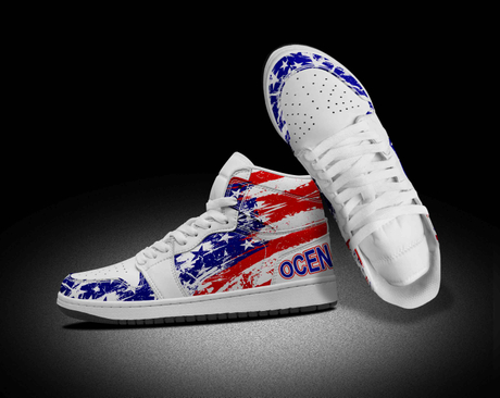 Custom America Flag Casual Shoes For Man