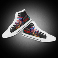 Custom Black High Top Convers Men Casual Canvas Shoes
