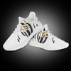 White Sports Lightweight Fly Knitted Upper Athletics Shoes For Men