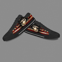 Fashion Trend Black Custom Low Top Casual Shoes