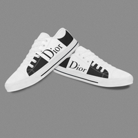 Black White Design Casual Shoes For Woman