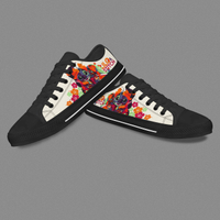 Black Custom Low Tops Casual Shoes Like Converse