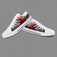 White Spiderman Design Low Top Casual Shoes