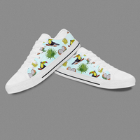 DIY Birthday Gift Mesh Print Converse Casual Shoes